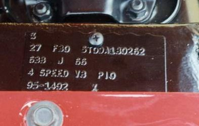 1965 66 Buck Tag Information